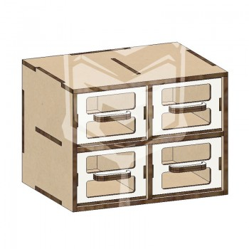 Cajonera modular 2x2 20cm